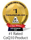 Consumer Labs #1 Rated CoQ10 Product