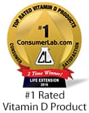 Consumer Labs #1 Rated Vitamin D Product