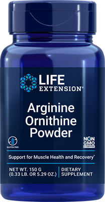 Arginine Ornithine Powder, 150 grams - Life Extension