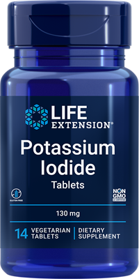 Potassium Iodide Tablets , 130 mg, 14 tablets - Life Extension