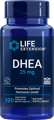 DHEA, 25 mg, 100 dissolve-in-mouth tablets - Life Extension
