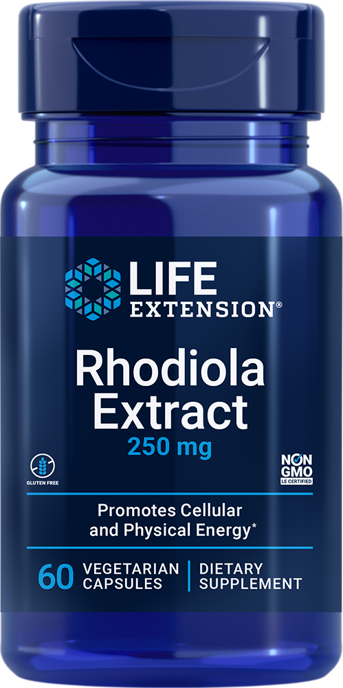 Rhodiola Extract (3% Rosavins) - Promotes cellular energy metabolism