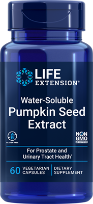Water-Soluble Pumpkin Seed Extract, 60 vegetarian capsules - Life Extension