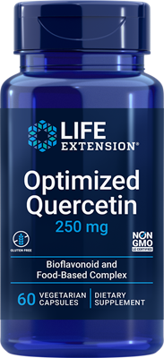 Optimized Quercetin, 250 mg, 60 vegetarian capsules - Life Extension