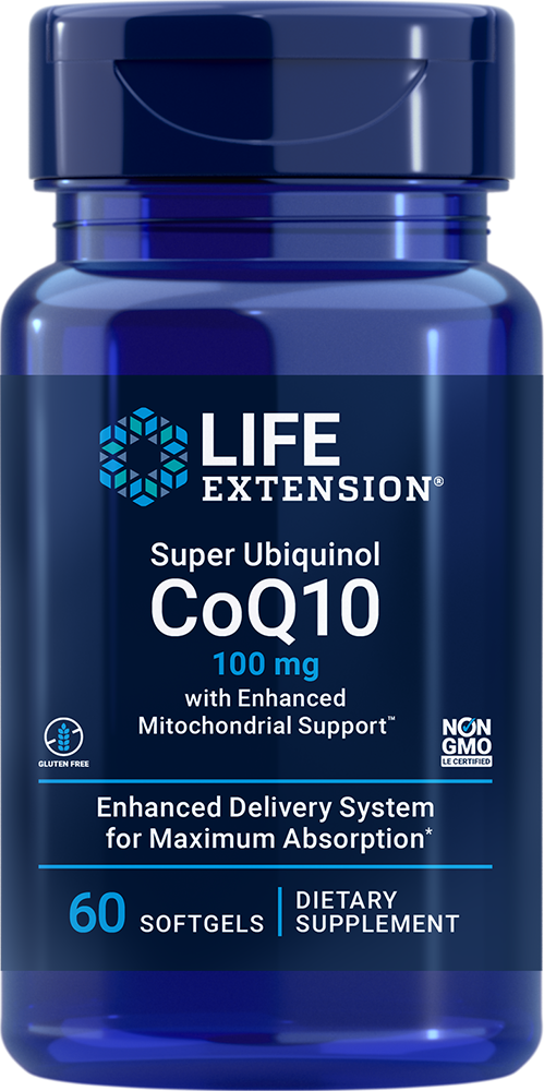 Super Ubiquinol CoQ10 with Enhanced Mitochondrial Support™ - Ultra-absorbable CoQ10 for cell energy, heart health, & more