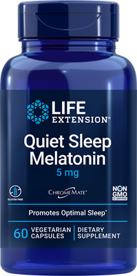 Quiet Sleep Melatonin, 5 mg, 60 vegetarian capsules - Life Extension