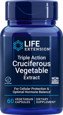 Triple Action Cruciferous Vegetable Extract, 60 vegetarian capsules - Life Extension