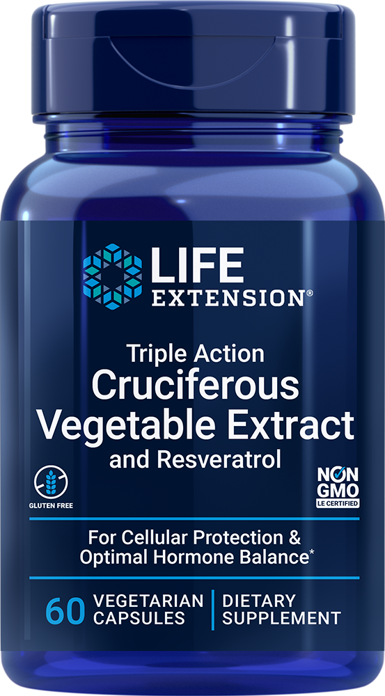 Triple Action Cruciferous Vegetable Extract with Resveratrol - Supports cellular protection and optimal hormone balance