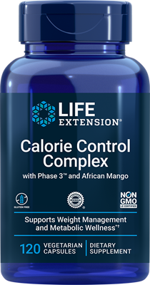 Optimized African Mango Irvingia with Phase 3 Calorie Control Complex , 120 vegetarian capsules - Life Extension