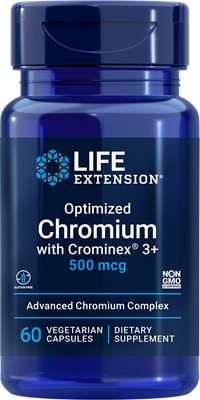 Optimized Chromium with Crominex 3+, 500 mcg, 60 vegetarian capsules - Life Extension
