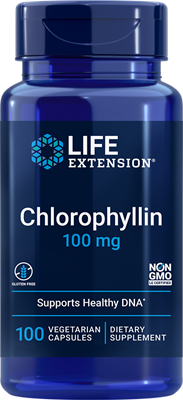 Chlorophyllin, 100 mg, 100 vegetarian capsules - Life Extension