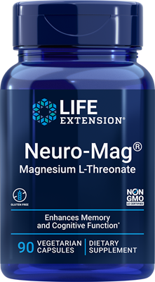 Neuro-Mag Magnesium L-Threonate, 90 vegetarian capsules - Life Extension