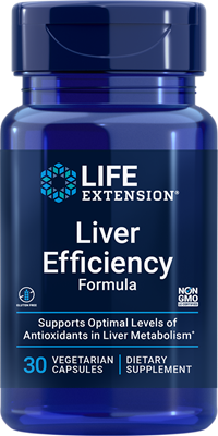Liver Efficiency Formula, 30 vegetarian capsules - Life Extension