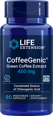 CoffeeGenic Green Coffee Extract, 400 mg, 90 vegetarian capsules - Life Extension