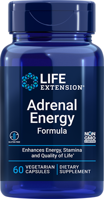 Adrenal Energy Formula, 60 vegetarian capsules - Life Extension