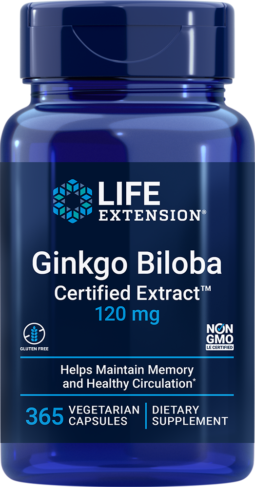 Ginkgo Biloba Certified Extract™ - Helps maintain memory & healthy circulation