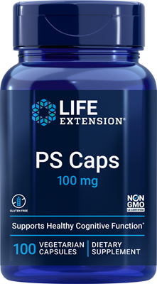 PS Caps, 100 mg, 100 vegetarian capsules - Life Extension