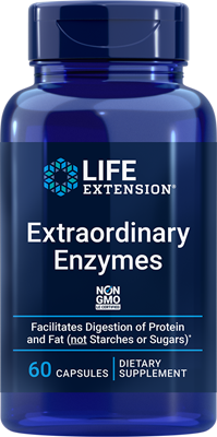 Extraordinary Enzymes, 60 capsules - Life Extension