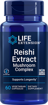 Reishi Extract Mushroom Complex, 60 vegetarian capsules - Life Extension