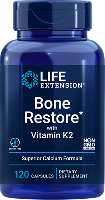 Bone Restore with Vitamin K2, 120 capsules - Life Extension