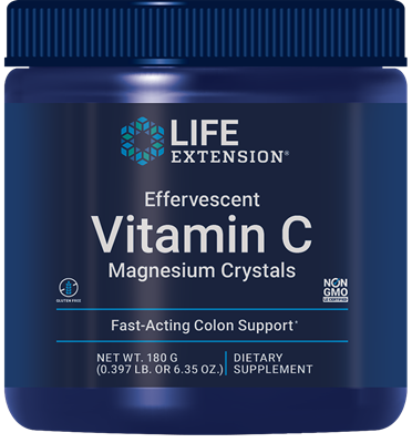 Effervescent Vitamin C Magnesium Crystals, 180 grams - Life Extension