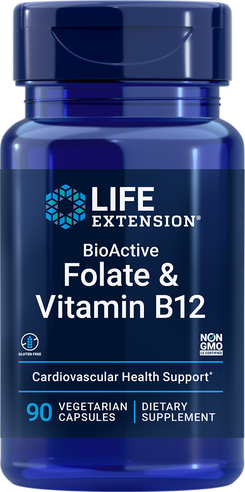 BioActive Folate & Vitamin B12 - Promotes heart, brain, & GI tract health