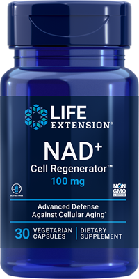 NAD+ Cell Regenerator, 100 mg, 30 vegetarian capsules - Life Extension