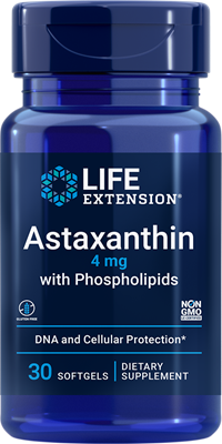 Astaxanthin with Phospholipids, 4 mg, 30 softgels - Life Extension