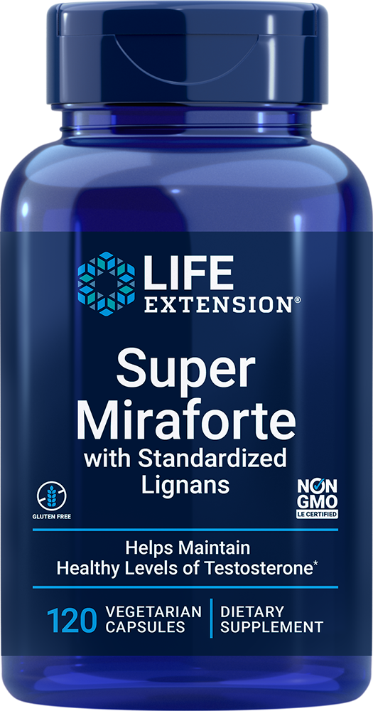 Super Miraforte with Standardized Lignans - Maintain optimized testosterone levels