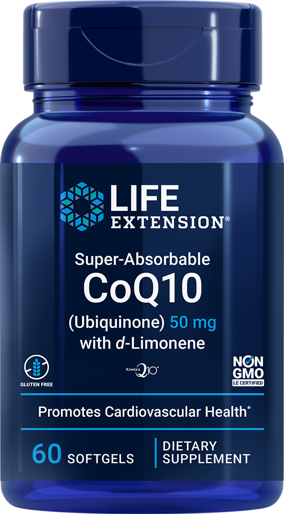 Super-Absorbable CoQ10 (Ubiquinone) with d-Limonene - Promotes heart health