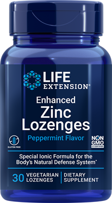 Enhanced Zinc Lozenges (Peppermint), 30 vegetarian lozenges - Life Extension