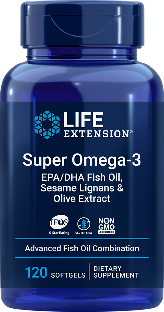 Super Omega-3 EPA/DHA with Sesame Lignans & Olive Extract - Comprehensive fish oil formula for heart health and beyond