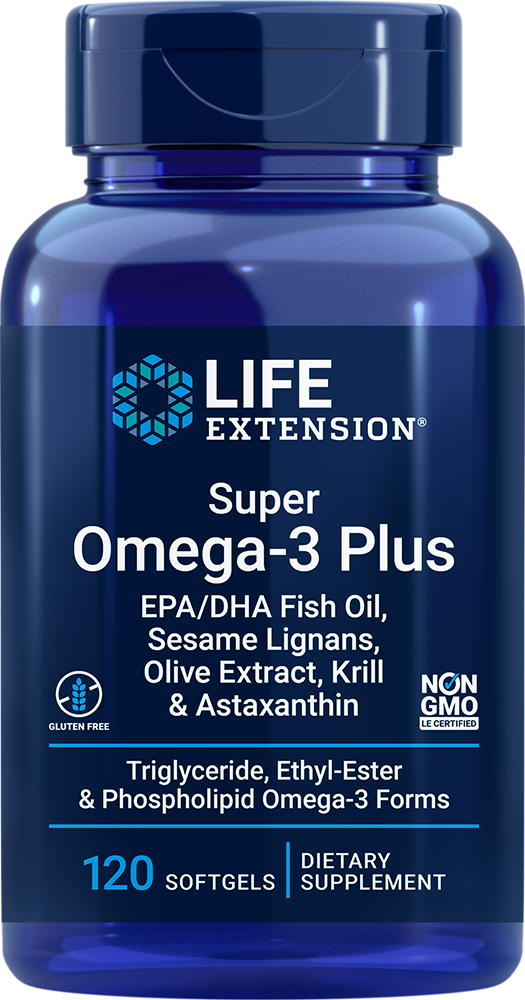 Super Omega-3 Plus EPA/DHA with Sesame Lignans, Olive Extract, Krill & Astaxanthin - Omega-3 formula for cognitive & cardiovascular health support