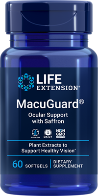 MacuGuard Ocular Support with Saffron, 60 softgels - Life Extension