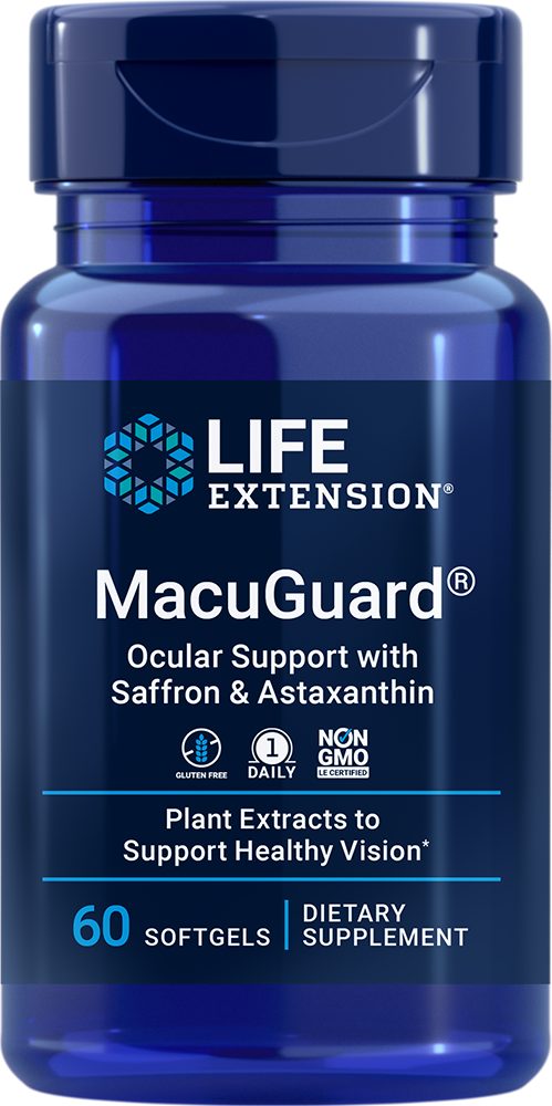 MacuGuard® Ocular Support with Saffron & Astaxanthin - Complete nutrition for eye health and night vision support