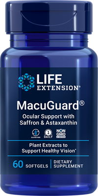 MacuGuard Ocular Support with Saffron & Astaxanthin, 60 softgels - Life Extension
