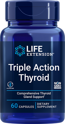 Triple Action Thyroid, 60 capsules - Life Extension