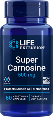 Super Carnosine, 500 mg, 60 vegetarian capsules - Life Extension