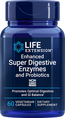 Enhanced Super Digestive Enzymes and Probiotics, 60 vegetarian capsules - Life Extension