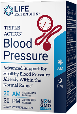 Triple Action Blood Pressure, 60 vegetarian tablets - Life Extension