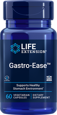 Gastro-Ease, 60 vegetarian capsules - Life Extension