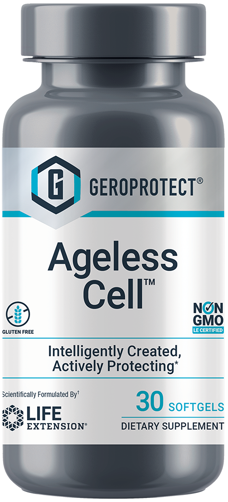 GEROPROTECT™ Ageless Cell™ - Defy aging with nutrients identified by artificial intelligence