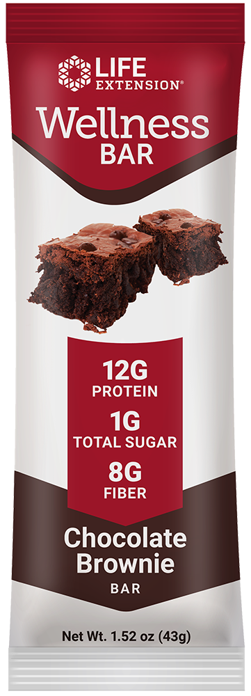 Wellness Bar (Chocolate Brownie) - A healthy, guilt-free balance of protein, fat, carbs, & fiber