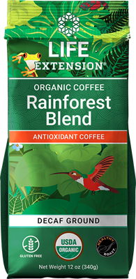 Rainforest Blend Decaf Ground Coffee, 12 oz - Life Extension