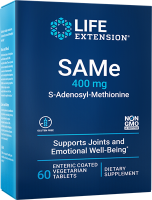 SAMe, 400 mg, 60 enteric-coated tablets - Life Extension