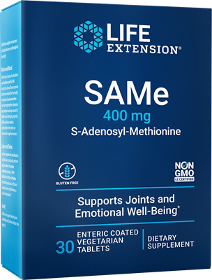 SAMe, 400 mg, 30 enteric-coated tablets - Life Extension