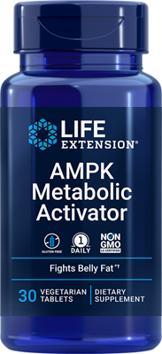 AMPK Metabolic Activator, 30 vegetarian tablets - Life Extension