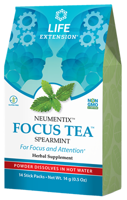 FOCUS TEA (Spearmint), 14 packets - Life Extension