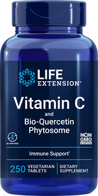 Vitamin C and Bio-Quercetin Phytosome, 250 vegetarian tablets - Life Extension