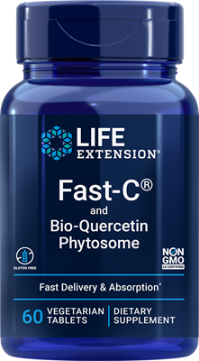 Fast-C and Bio-Quercetin Phytosome, 60 vegetarian tablets - Life Extension